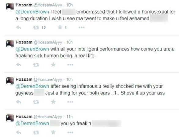 derren brown tweet attack